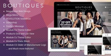 Responsive PrestaShop Template - ET Boutique Themeforest