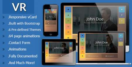 VR - Themeforest Responsive vCard Template